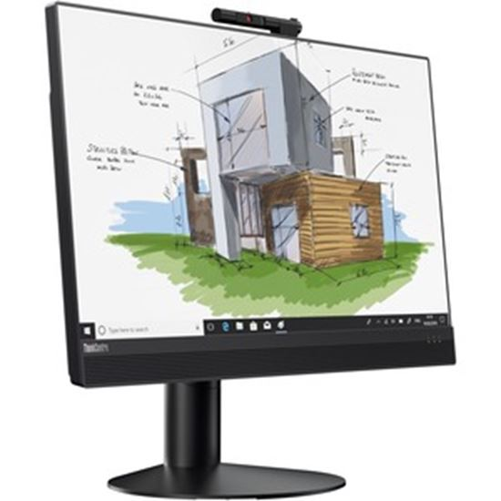 """Picture of Lenovo ThinkCentre M920z 10S60041US All-in-One Computer - Intel Core i9 9th Gen i9-9900 Octa-core (8 Core) 3.10 GHz - 16 GB RAM DDR4 SDRAM - 1 TB SSD - 23.8"""" Full HD 1920 x 1080 Touchscreen Display - Desktop - Business Black"""