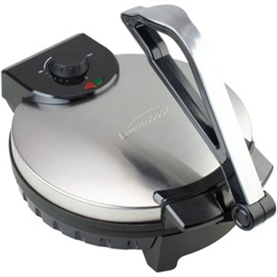 Picture of Brentwood TS-129 Stainless Steel Non-Stick Electric Tortilla Maker, 12-Inch