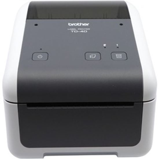Picture of Brother TD4420DN Desktop Direct Thermal Printer - Monochrome - Label Print - Ethernet - USB - Serial