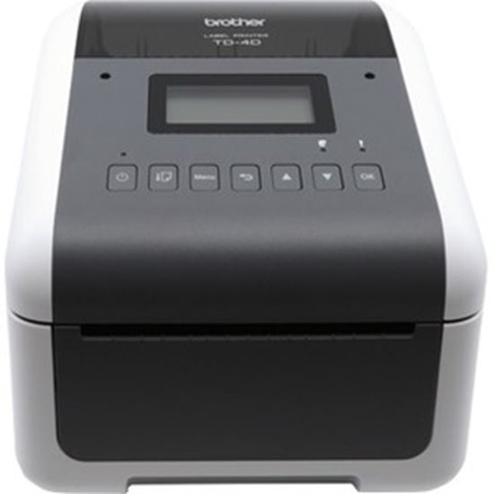 Picture of Brother TD-4550DNWB Desktop Direct Thermal Printer - Monochrome - Label Print - Ethernet - USB - Serial - Bluetooth