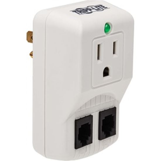 Picture of Tripp Lite Notebook Surge Protector Wallmount Direct Plug In 1 Outlet RJ11