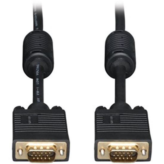 Picture of Tripp Lite 15ft SVGA / VGA Coax Monitor Cable with RGB High Resolution HD15 M/M 15'