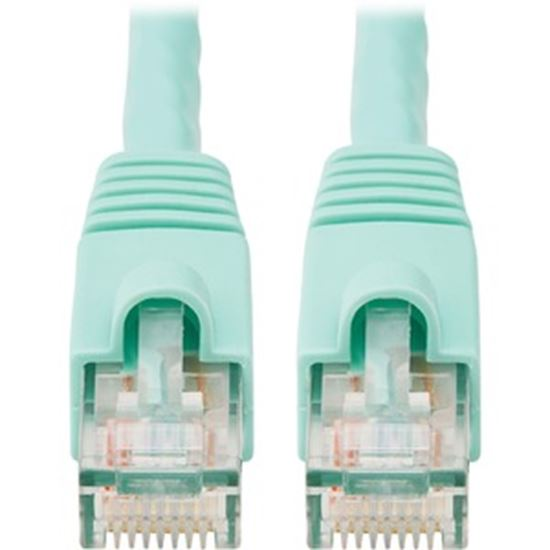 Picture of Tripp Lite 14ft Augmented Cat6 Cat6a Snagless 10G Patch Cable RJ45 Aqua 14'