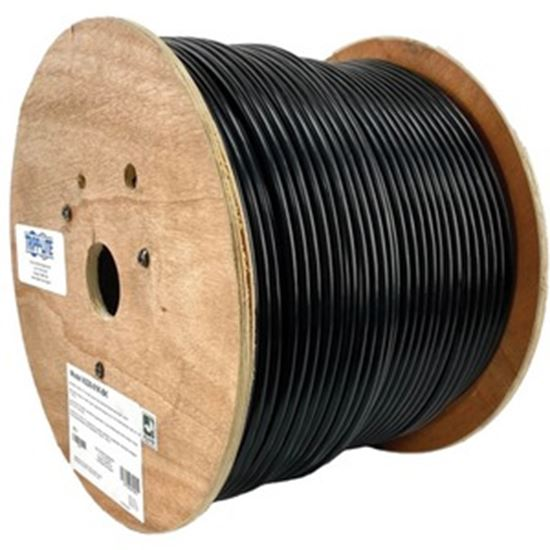 Picture of Tripp Lite Cat6/Cat6e Bulk Ethernet 600 MHz Solid-Core Direct-Burial Outdoor-Rated UTP Bulk Ethernet Cable - Black, 1,000 ft. (304.8 m)