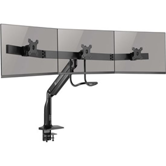 Picture of Tripp Lite Safe-IT DMPDT1732AM Desk Mount for Monitor, HDTV, Flat Panel Display, Curved Screen Display, Smartphone, Interactive Display - Black