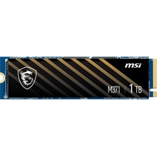 Picture of MSI M370 M370 NVMe M.2 1 TB Solid State Drive - M.2 2280 Internal - PCI Express NVMe (PCI Express NVMe 3.0 x4)