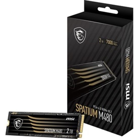 Picture of MSI SPATIUM M480 2 TB Solid State Drive - M.2 2280 Internal - PCI Express NVMe (PCI Express NVMe 4.0 x4)